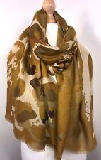 Mustard Scarf Pashmina Khaki Zebra & Animal Print Oversized Long Soft Feel NEW