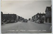 1950's Hawaraden Iowa Heidel Brau Beer sign Street Scene postcard Rppc