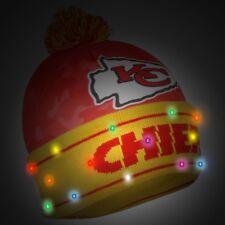 Kansas City Chiefs Camouflage Light Up Logo Beanie Winter Hat Cuffed Pom CAMO