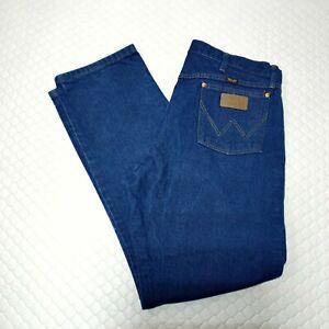 Wrangler Mens Jeans 38x32 Original Straight Cowboy Cut Dark Cotton Denim 13MWZPW