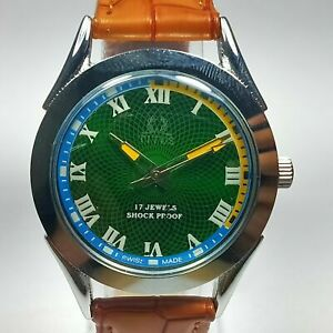 Vintage Titus Mechanical Hand Winding Movement dial Wrist Watch  E246
