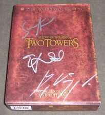 VIGGO MORTENSEN ELIJAH WOOD ASTIN SIGNED LORD OF THE RINGS THE TWO TOWERS DVD