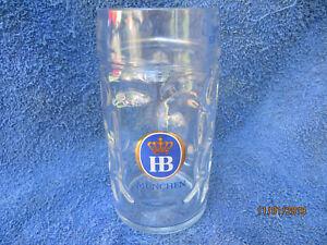 "Heavy Glass 500mL Blue Label ""HB MUNCHEN"" Oktoberfest Beer Stein..Like New"