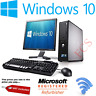 FULL FAST COMPUTER DELL/HP WINDOWS 10 DUAL CORE DESKTOP PC &17' TFT WIFI ENABLED