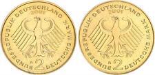 2 Dm-Probe in Gold Bronze 2001 a Coupling Der Adlerseiten without Randschr. Prfr