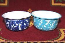2 Pc Old Vintage Enamel Antique Bowl Kitchenware Collectible X30