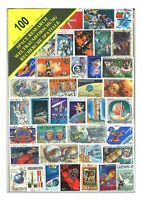 100 Different Space Research Used Stamps Thematic Window Display Packet