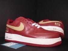 2003 OG DS Nike Air Force 1 One LBJ Lebron James Crimson Gold Cavs PE 306353 671