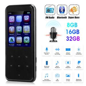"2.5"" LCD Bluetooth5.0 Voice Recorder HIFI Music MP3 Player FM Radio 8G 16G 32G"