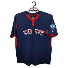 Men's Majestic Cool Base  XL Red Sox Coach Dean 36 Blue Red Jersey EUC