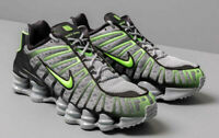 Nike Shox TL Mens Grey / Black / Lime Trainers / Shoes- size 8.5 UK