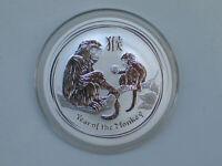 2016 1/2 oz 999 Silver Lunar Year of The Monkey BU Australian Perth Mint Capsule