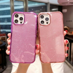 Glitter Soft Silicone Case For iPhone 12 11 Pro Max XS XR 8 7 Plus SE 2nd Cover