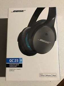Bose QuietComfort 25 Noise Cancelling Headphones - Black - Brand New UNOPENED