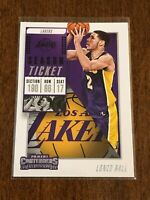 2018-19 Panini Contenders Basketball Base - Lonzo Ball - Los Angeles Lakers