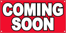 2x4 ft COMING SOON Vinyl Banner Sign New - rb