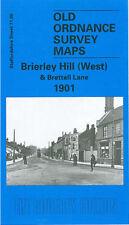 OLD ORDNANCE SURVEY MAP BRIERLEY HILL WEST & BRETTELL LANE 1901
