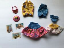 1987 California Dream Barbie Doll Outfit Accessories Lot Blue Dot Incomplete