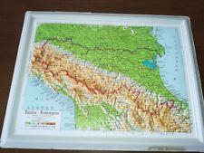 '60 vecchia cartina in plastica EMILIA ROMAGNA BOLOGNA FORLI' RIMINI RAVENNA
