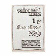 Valcambi Suisse ONE Gram .999 Silver Bullion Bar ****BUY MORE GET 10% OFF*****