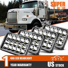 Fit Western Star 4900 Semi Truck Commercial Vehicle 4PCS LED Headlight HeadLamp