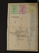 New York, Steuben County Map, 1873, Prattsburgh, Bluffport, Erwin Center, O6#33