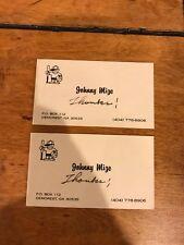 (2) JOHNNY MIZE THANKS BUSINESS CARD JOHNNY MIZE ESTATE LOA