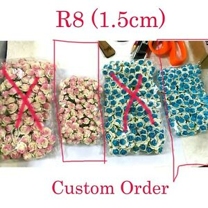 """5/8"""" or1.5cm - 2 Colors -Total 200 flowers of Open Roses (R8-43H+266C)"""