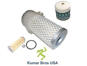 New Kubota Filter KIT AIR/FUEL/OIL B4200D B5100D B5100E B6100D B6100E B7100D