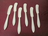 1847 Rogers Bros ARGOSY Set of 6 Butter Spreaders Silverplate Flatware Lot D