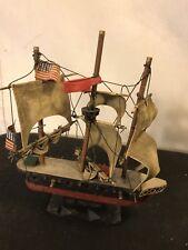 """Model Ship 9""""x2""""X2"""" Vintage Wood Of """"Constitution""""C10pix4size&details.MAKE OFFER"""