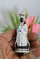 Antique rare small Black madonna notre dame de hal statue figurine religious