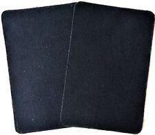 2 Bügelflicken Jeansflicken Flicken 10,0 x 15,0 cm schwarz 100 % Baumwolle 60016