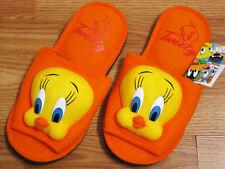 Tweety Orange Slippers Shoes Looney Tunes Women's Size US 6-10, UK 4-8, EU 36-42