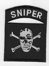 Sniper Skull/Black BC Patch Cat No L181