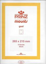 Package of 5 Prinz BLACK Mounts 265 x 215