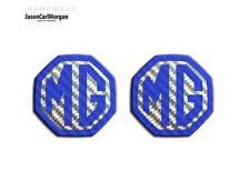 Mg Zr Zs MGF Mk1 Le500 Compatible Delantero Trasero de inserción de logotipo, insignia 59mm Carbono Azul
