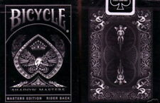 SHADOW MASTERS Ellusionist Deck - Black Bicycle Playing Cards magic trick POKER