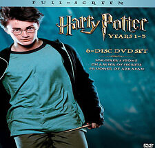 Harry Potter Collection DVD Set 6-Disc Years 1 - 3 Daniel Radcliffe EMMA Watson