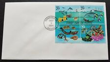 USA 1994 Marine Life Corals Fish Dolphins 4v Stamps FDC (official issue cover)