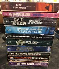 Lot Of 11 Frank Herbert Paperbacks