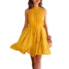 Summer Women Boho Short Mini Dress Casual Party Evening Cocktail Beach Sun Dress