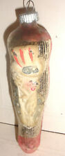 """Antique 5"""" Uncle Sam Stocking Patriotic Christmas glass blown Ornament Germany ?"""