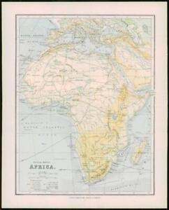 1903 Original Antique Colour Map - AFRICA  (37)