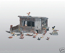 Woodland Scenics # 215  Chicken Coop - Kit Unpainted Metal Kit HO Scale MIB