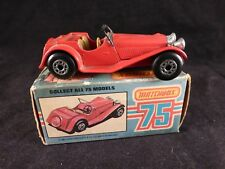 Matchbox 75 Red Jaguar SS100 No.47 1982 Scale 1:50 Made in England Mint in Box