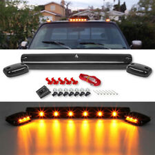 For Chevy GMC 2500HD 3500HD 07-up Full Amber LED Cab Roof Marker Light Assy 3pcs