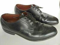 Allen Edmonds Kingswood Wing Tip Oxford Black Leather Men's Shoes Size 9.5 C
