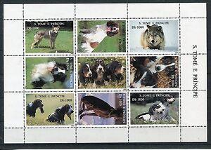 Sao Tome 1548/56 Kleinbogen postfrisch / Hunde ...........................1/1045