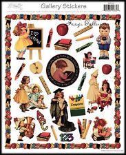 Vintage Victorian Gallery Graphics ABC 123 School Border Toys Stickers